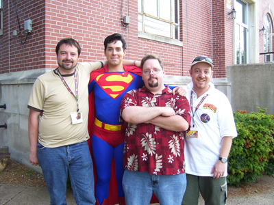 Neal, Superman, Steve and Mike