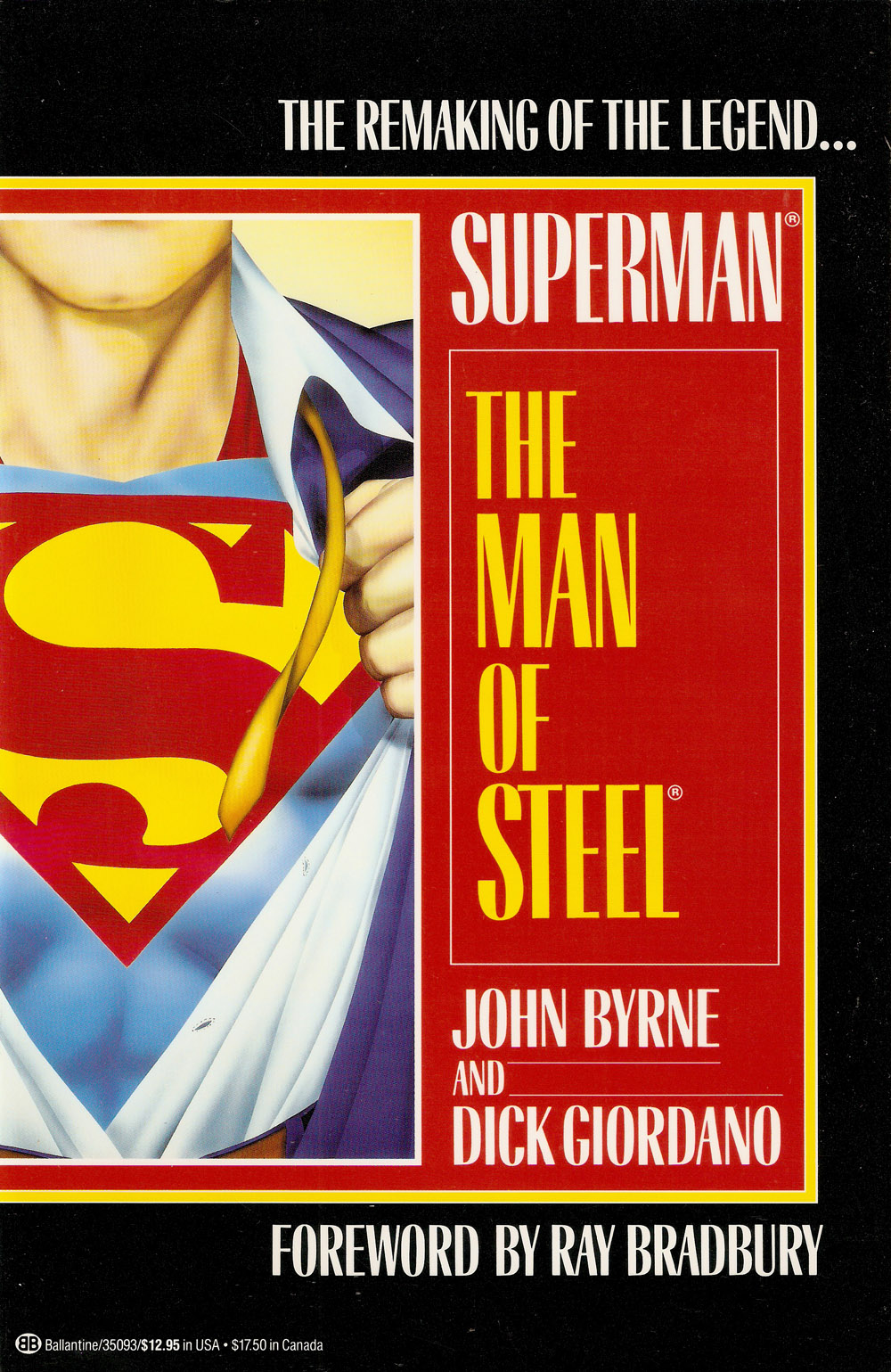 The Version Sold In Comic Shops Has A More Booky Look To It With Beautiful Shot Of John Byrnes Superman Flying Into