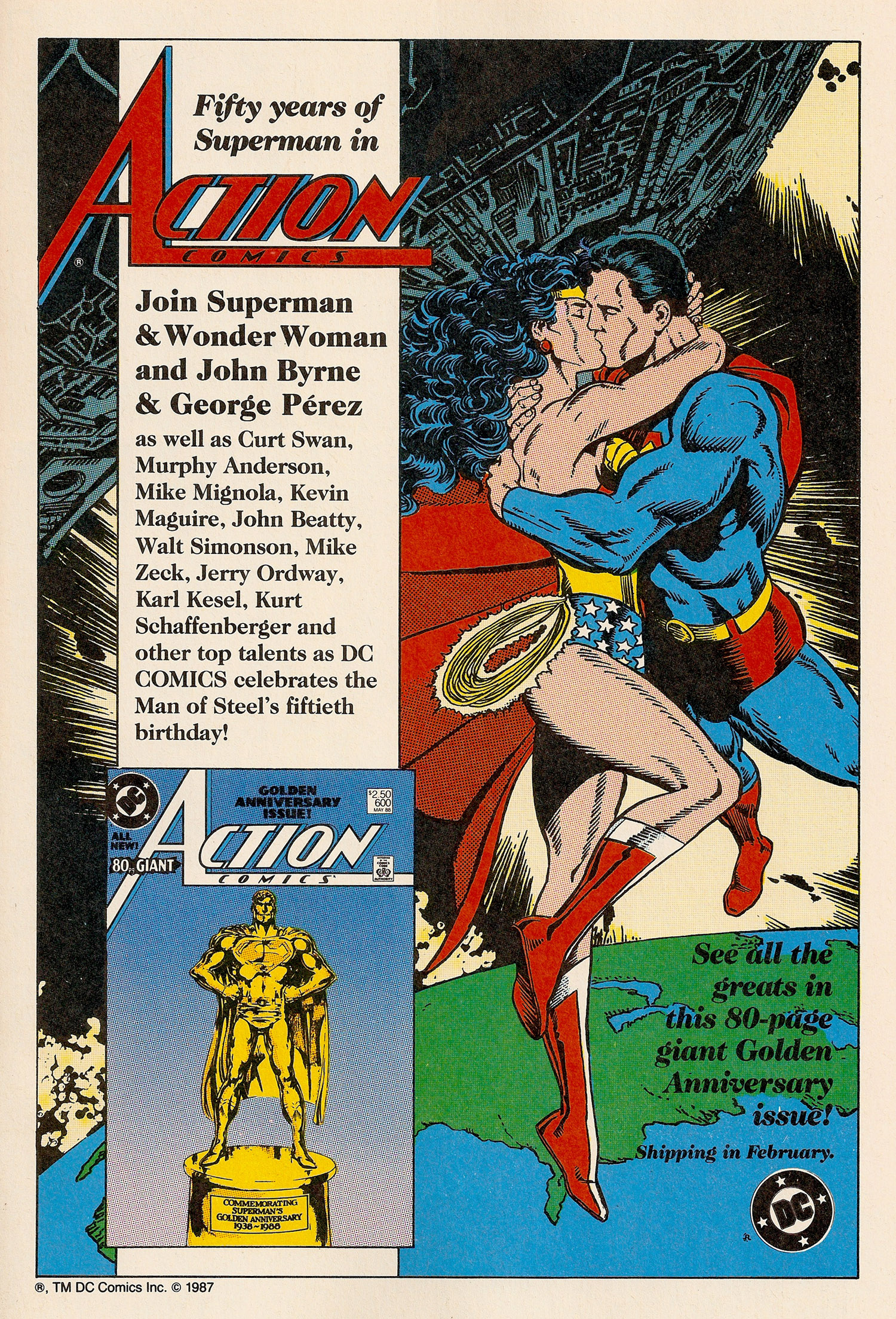 Ad- Action Comics #600