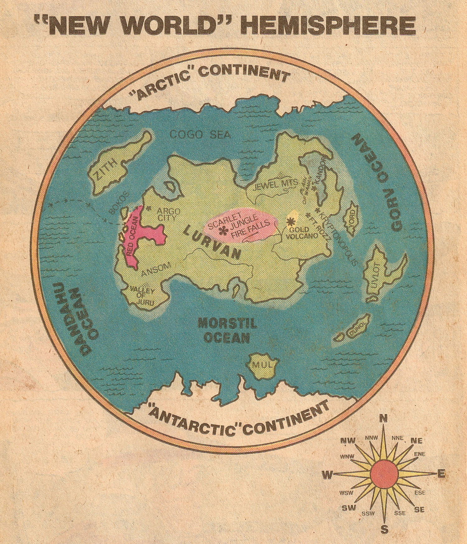 Map of Krypton- New World Hemisphere