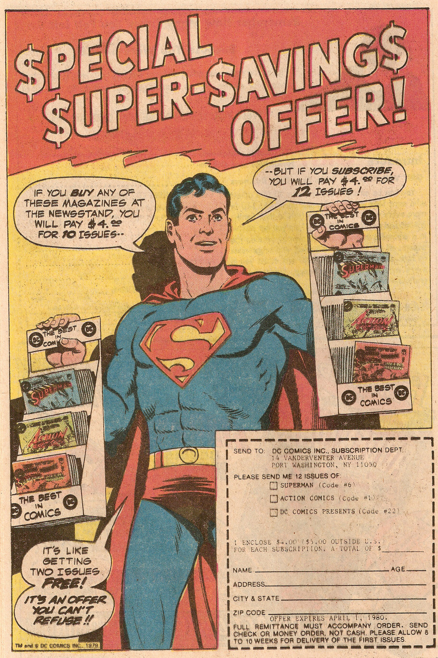 Ad- Sub Superman Titles