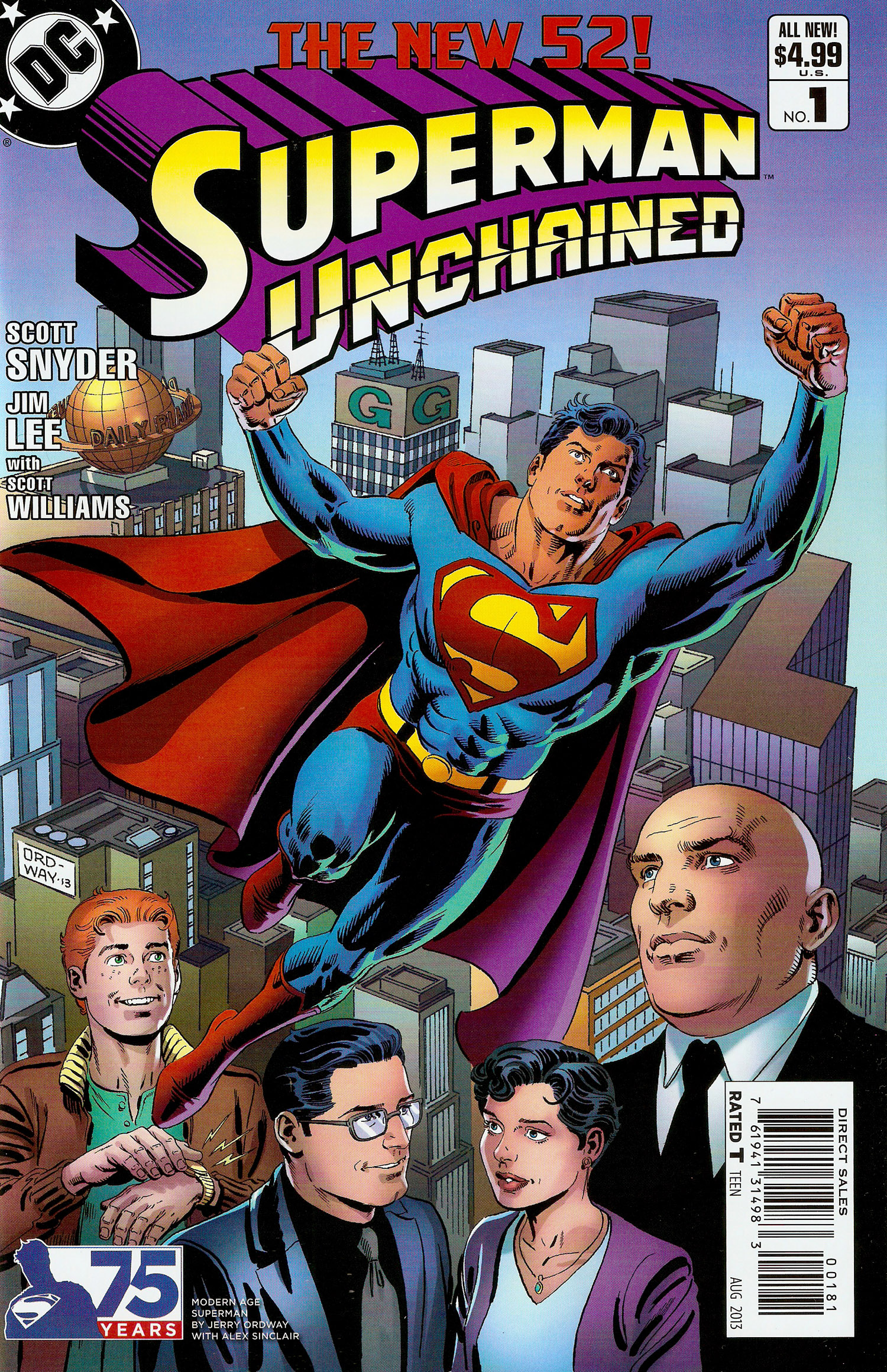 Superman Unchained #001 Ordway