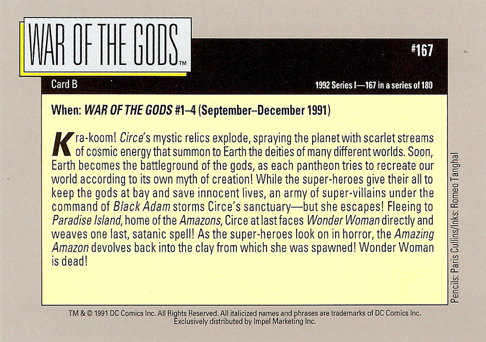 Cosmic Cards War of the Gods D