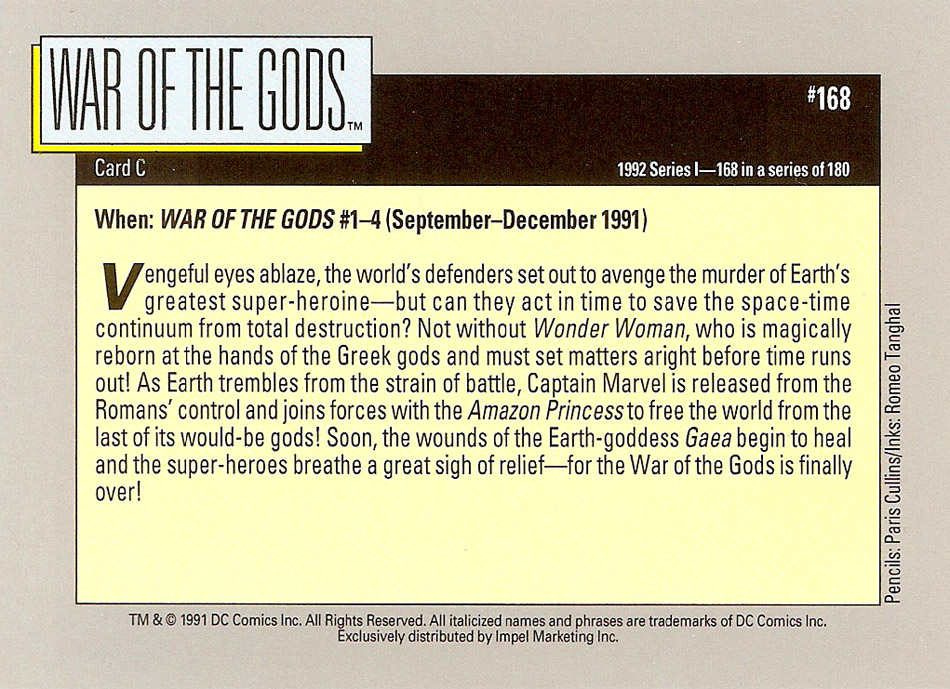 Cosmic Cards War of the Gods F