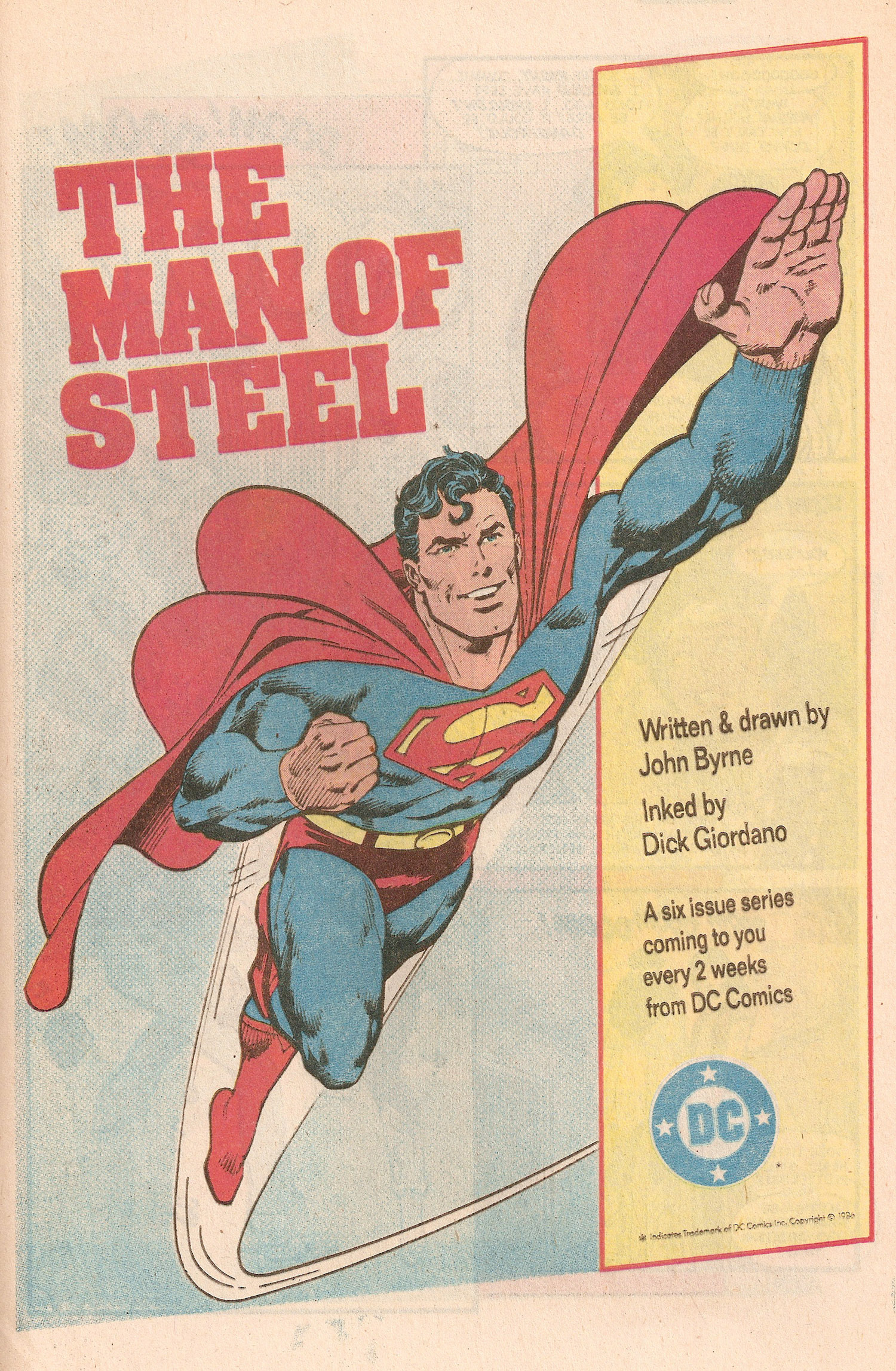 Ad- Man of Steel 1987