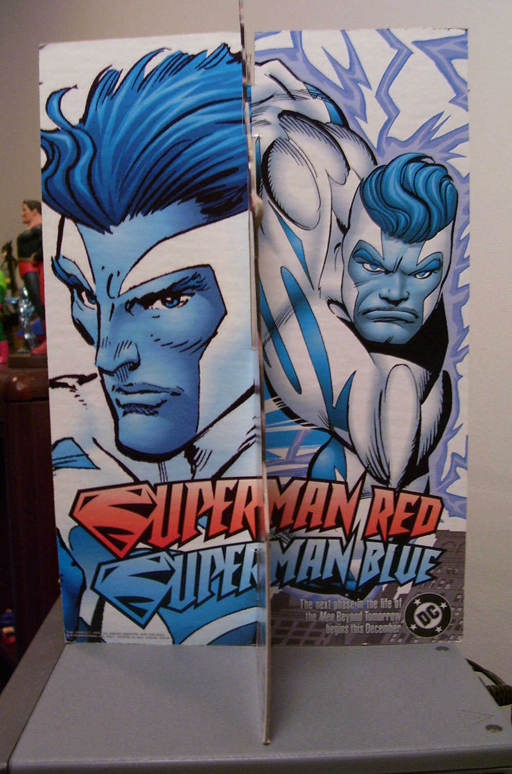 Superman Red Superman Blue Standee Side 1
