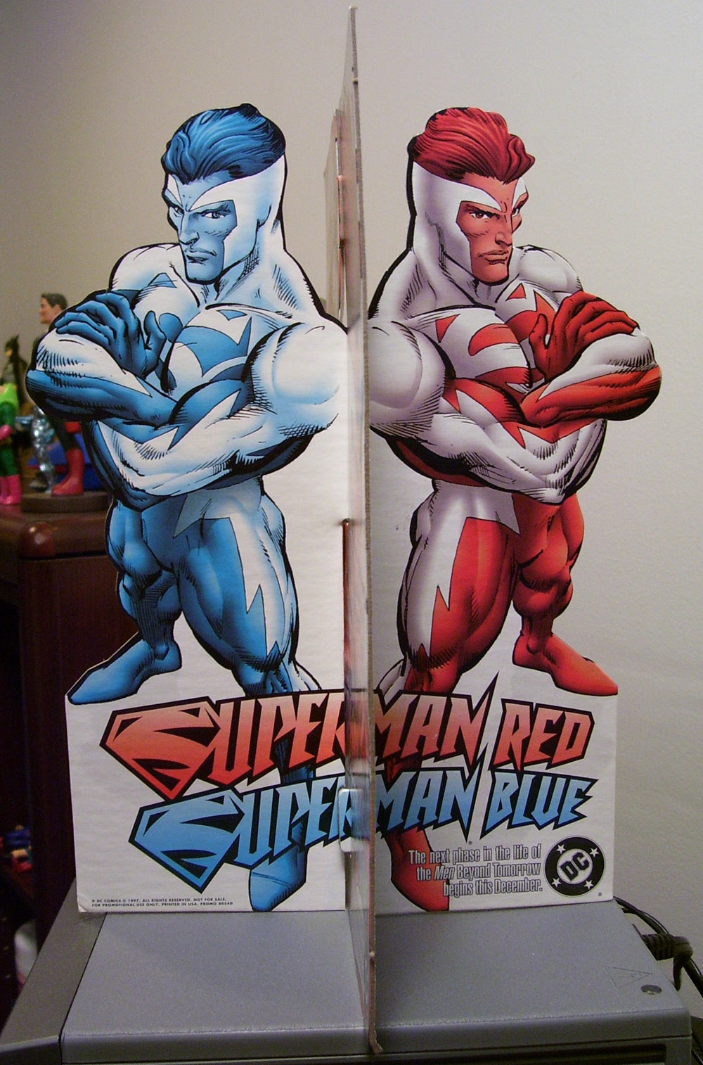 Superman Red Superman Blue Standee Side 2
