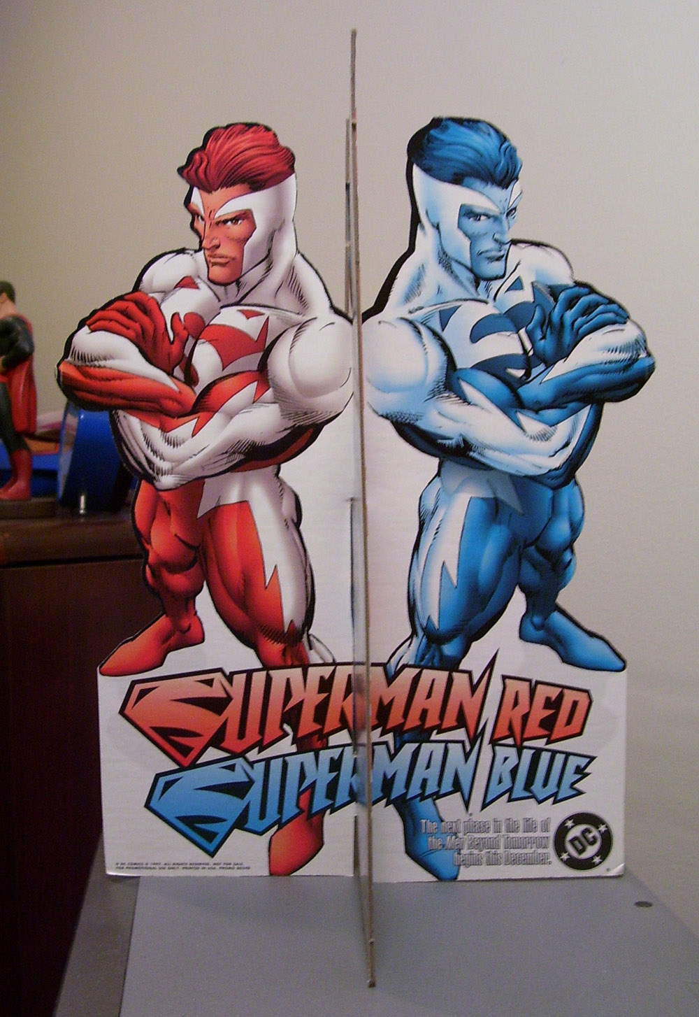 Superman Red Superman Blue Standee Side 4