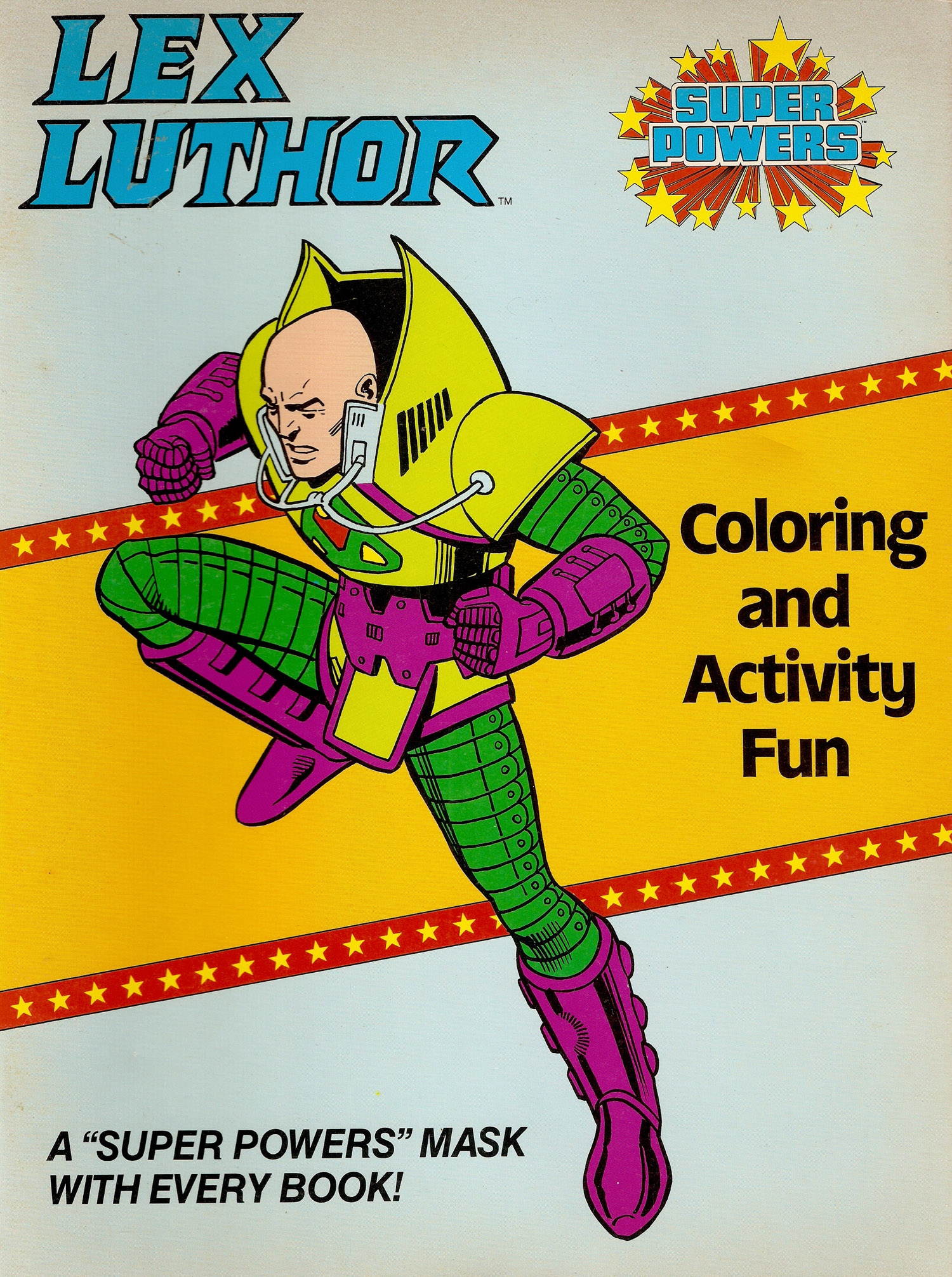 Super Powers Coloring Book- Lex A