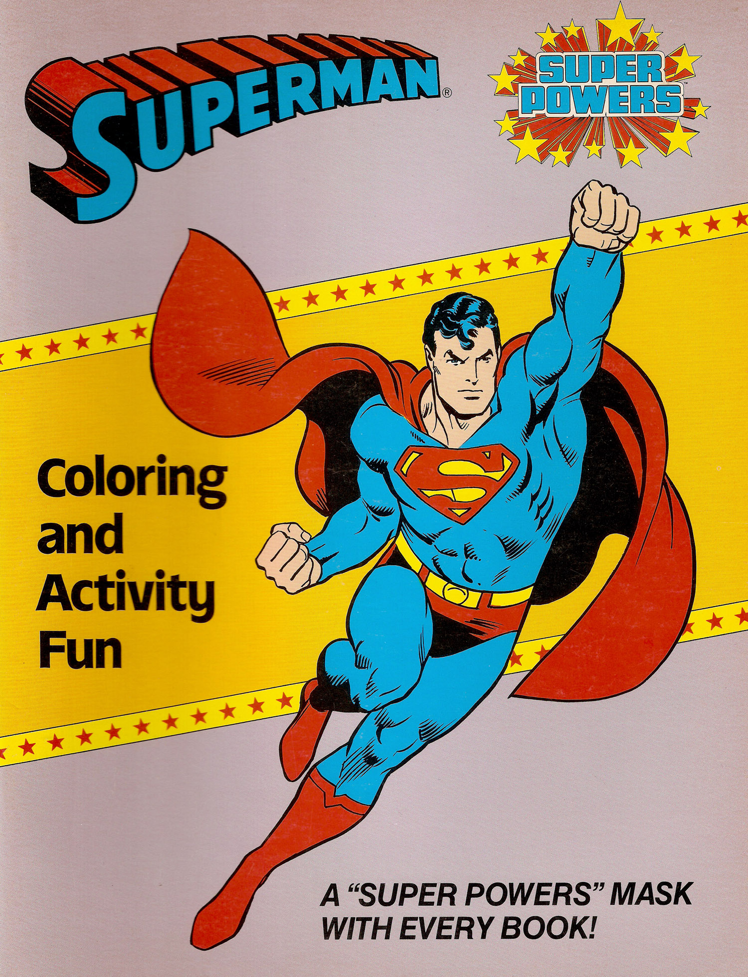 Super Powers Coloring Book Superman A