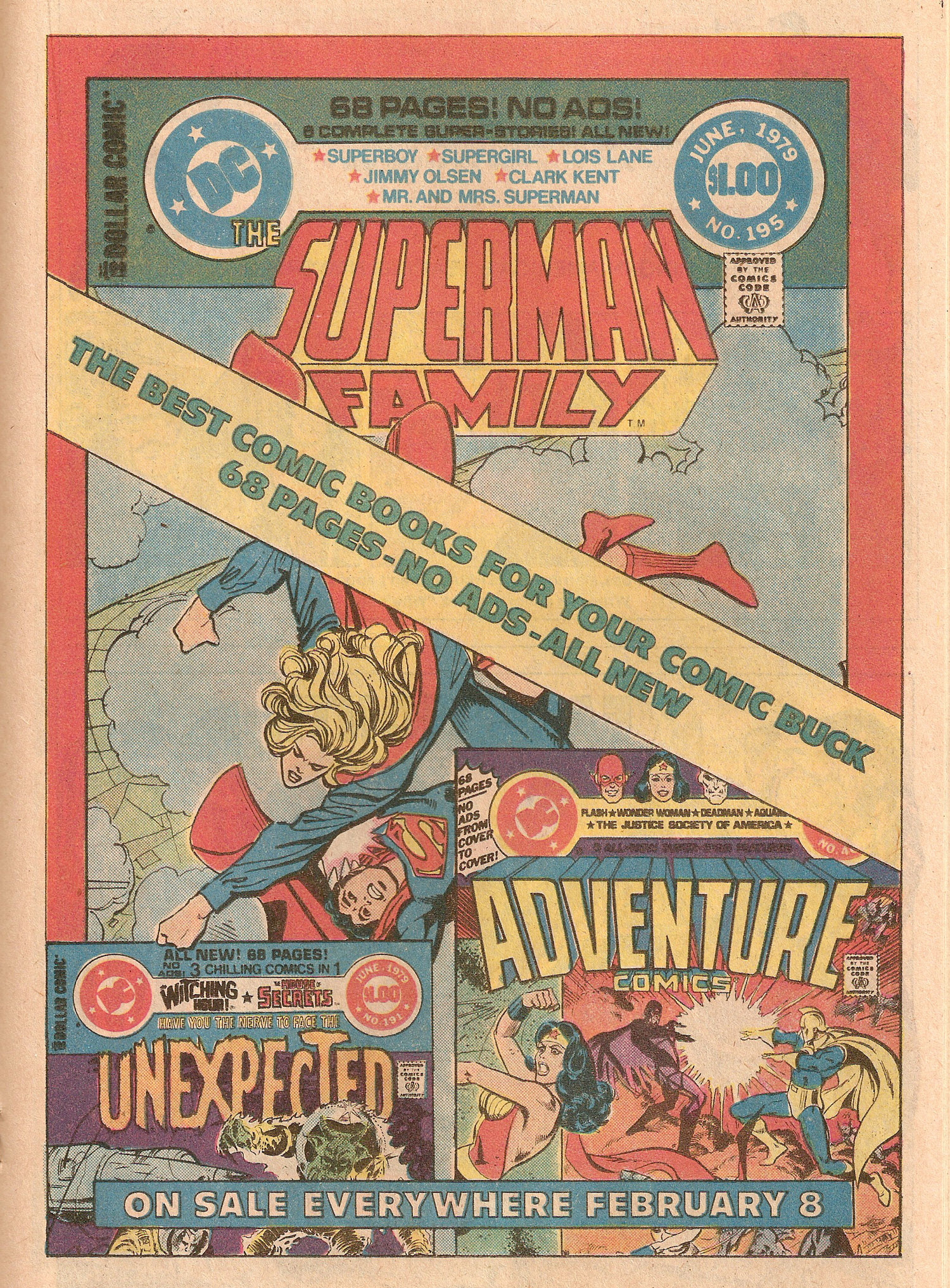 Ad- Superman Family 1979