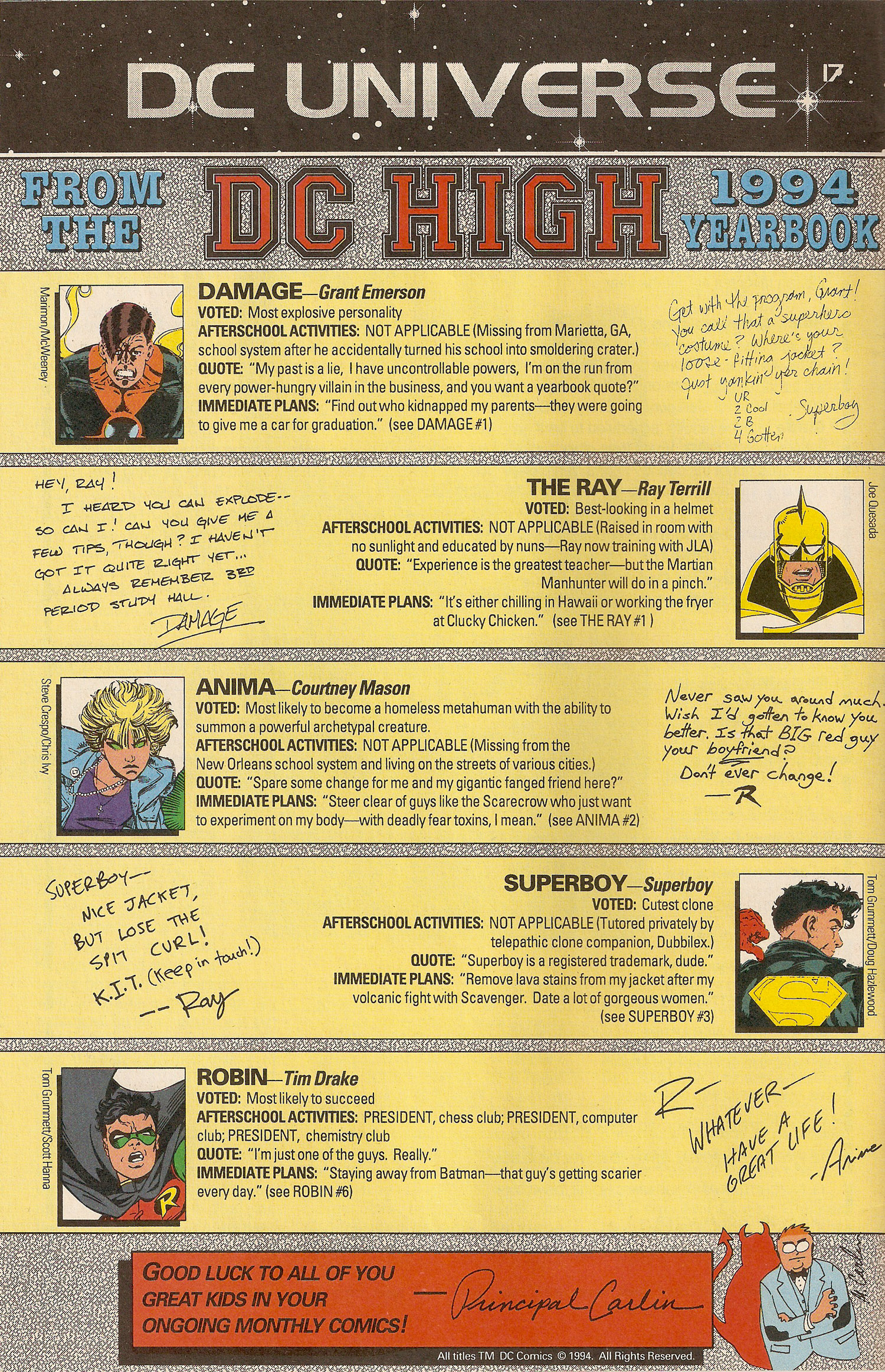 DC Universe Page- Yearbook