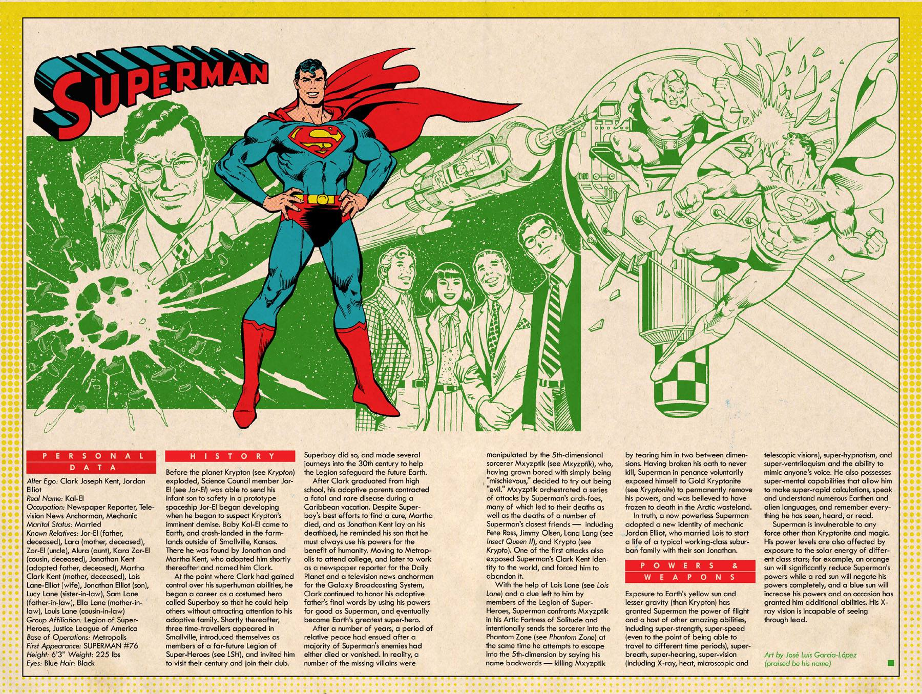 Superman Earth-1 Who's Who Page