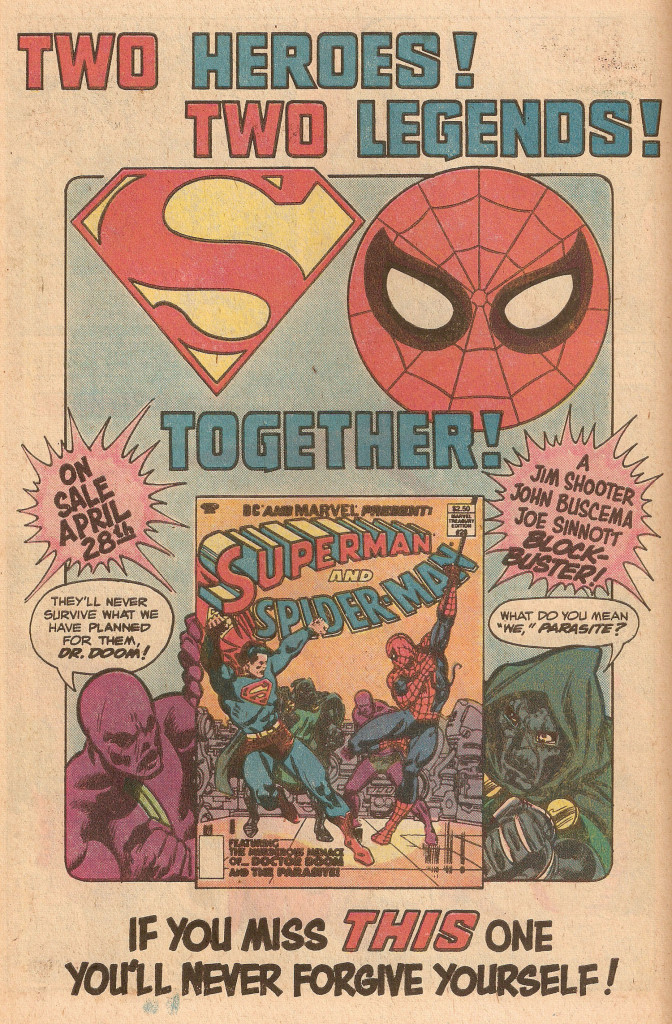 Ad- 1981 Superman and Spider-Man 2