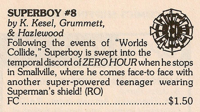Solicitation- Zero Hour Superboy
