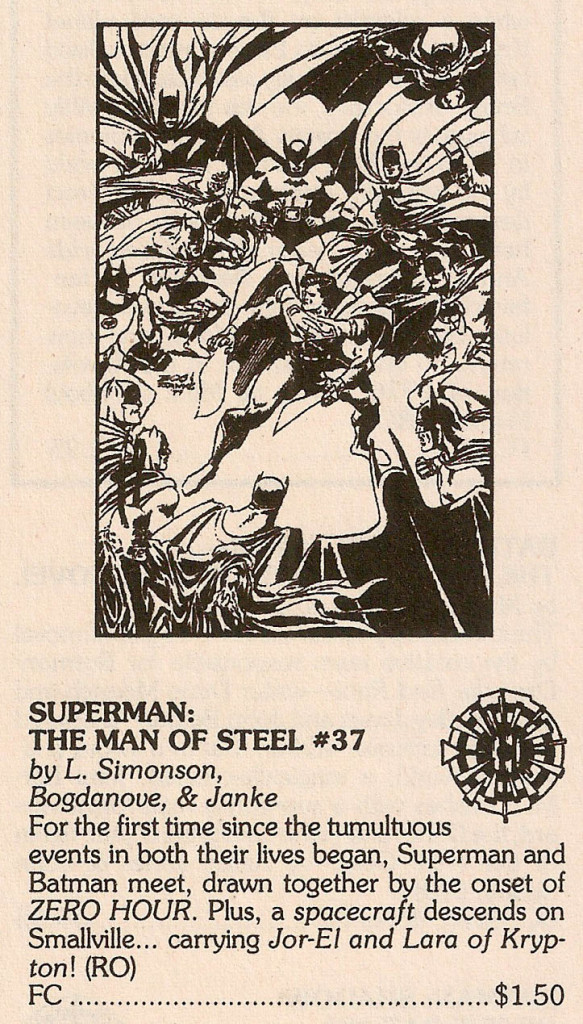 Solicitation- Zero Hour Superman The Man of Steel