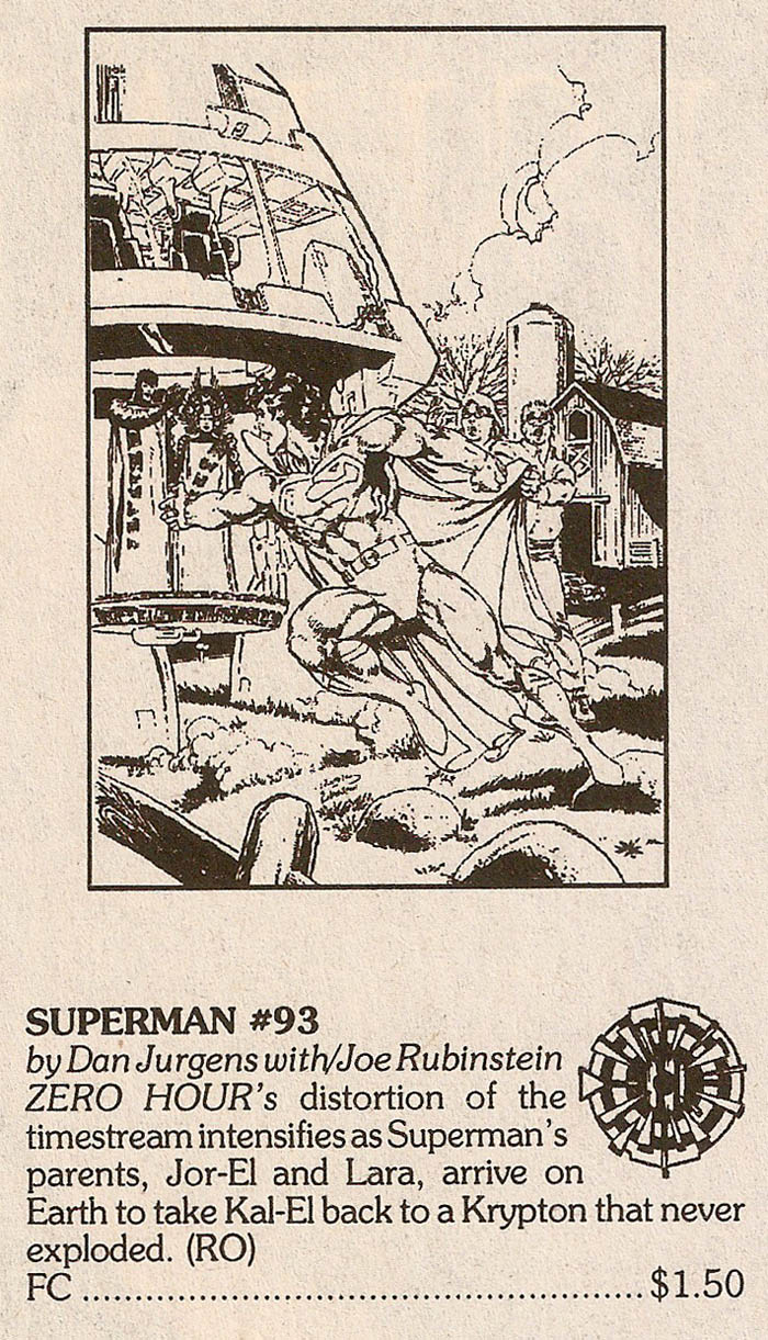 Solicitation- Zero Hour Superman