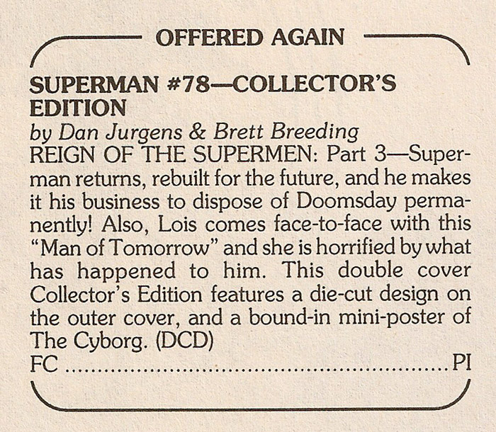 ZM Solicits - Offered Again Superman