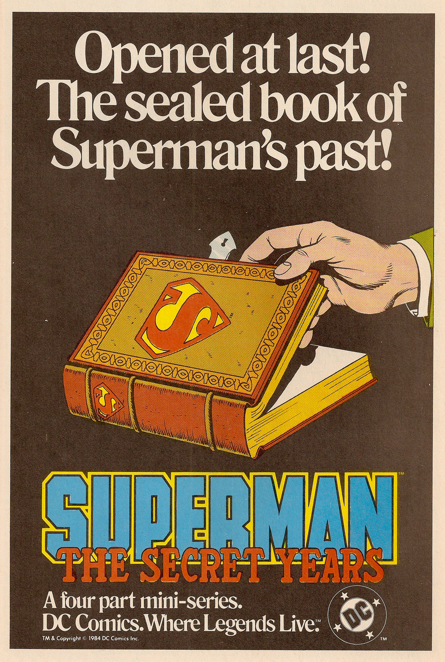 Ad- 1984 Superman Secret Years