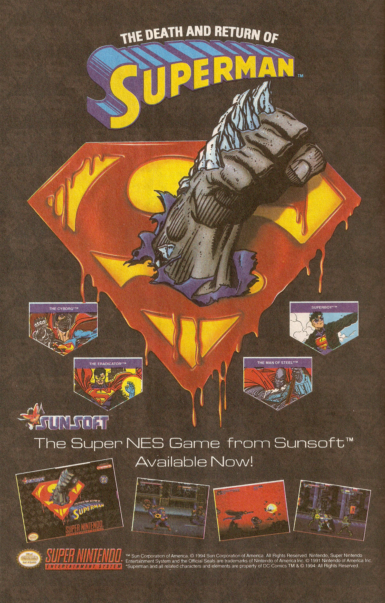 Ad- 1994 SNES Game